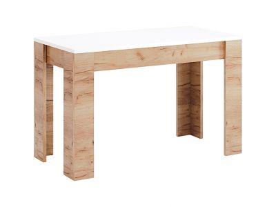 Стіл столовий Міромарк «Асті» 76,5x120x65 Дуб Крафт + Білий