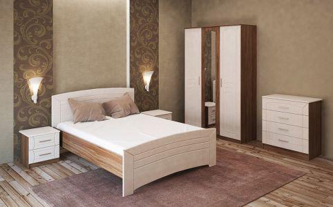 Фото Спальня «Флоренция-2» №621262 Орех французский   Клен - sofino.ua