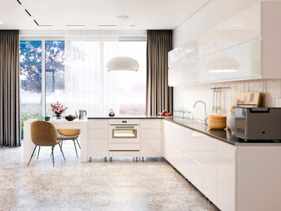 Кухня кутова Міромарк Мілленіум (МДФ Глянець Білий) 200х300 см