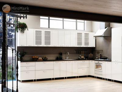 Кухня кутова Софія МДФ, 280x385 см, Білий