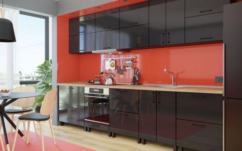 Фото Кухня «М. Глосс» №638414 Блек - sofino.ua