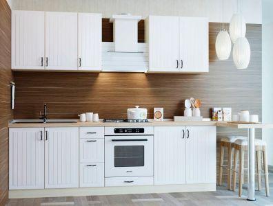 Кухня пряма Віп Мастер Верона матова (МДФ Д1 Білий) 210 см