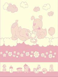 Плед «109779 Dogg Pink + Игрушка» 100*120 (детский)