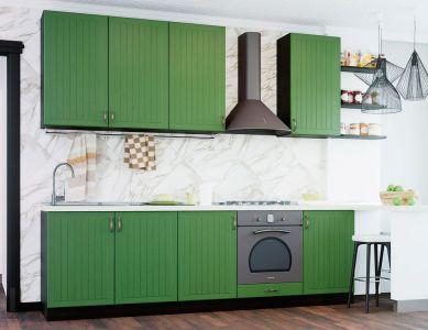 Кухня пряма Віп Мастер Верона матова (МДФ Д5 Темно-зелений) 220 см