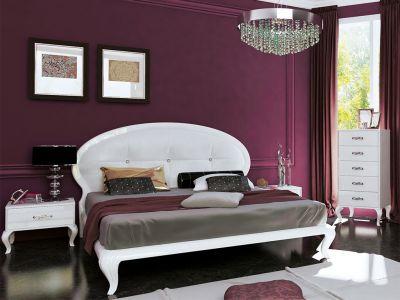 Спальня Міромарк «Імперія (М)» 160х200 (Комод 5ш) Глянець білий
