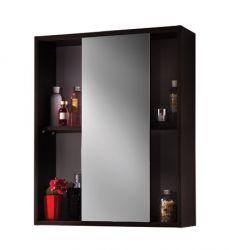 Шкафчик с зеркалом «Лотос Е65» венге