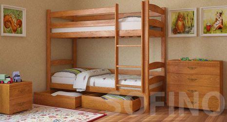 Кровать двухъярусная «Лакки с ящиками» 80*190