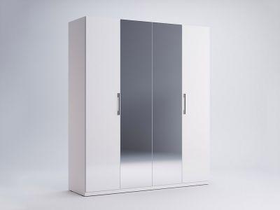 Шафа Міромарк «Фемелі 4д» (Дзеркало) Глянець білий 210,4х178,8х54,6