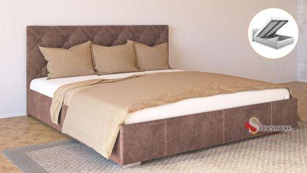 Кровать-подиум «Марта» с подъемным механизмом 140*190 | Ткань