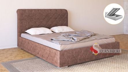 Кровать-подиум «Алиция» с подъемным механизмом 140*190 | Ткань