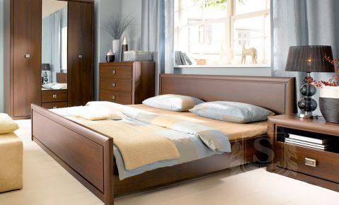 Фото Кровать «Коен с ламелями» Венге магия - sofino.ua