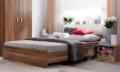 Фото Кровать «Опен с ламелями» Орех калифорнийский - sofino.ua