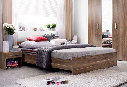 Ліжко двоспальне Гербор Опен ДСП Горіх каліфорнійський