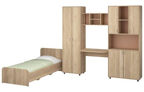 Дитяча кімната Сімба Пехотін ДСП • Ліжко, Стінка • Сонома