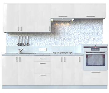 Кухня пряма Мода МДФ, 260 см, Перлина