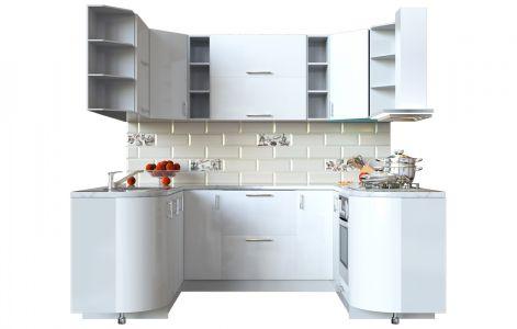 Кухня кутова Мода ВІП мастер • МДФ • 240х170 см • Фасад Лайт + Корпус Сірий металік