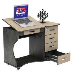 Письменный стол СУ-6 К «Универсал» меламин