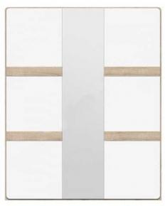 Шкаф 3D «Либерти» Дуб сонома | Белый глянец