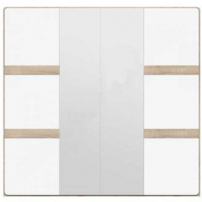 Шкаф 4D «Либерти» Дуб сонома | Белый глянец