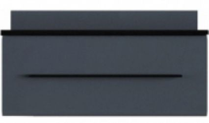 Тумба РТВ 90 «Милан» Черный | Серый гранит глянец