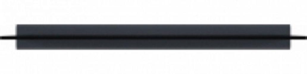 Полка 140 «Милан» Черный | Серый гранит глянец