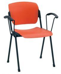 Кресло «ERA plast arm black»