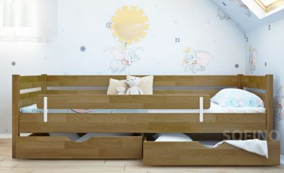 Кровать детская «Нота» с ящиками и бортиком