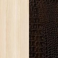 Ясень светлый / Кожа крокодила коричневая