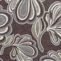 Жаккардовый шенилл Canada 4flowers-chocolate