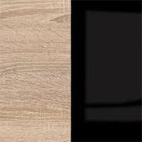 Цветовая гамма Дуб сонома   Черный глянец